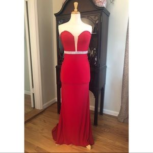 Blush Prom Red Gown